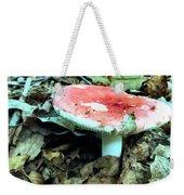 Red And White Wild Mushroom Weekender Tote Bag