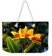 Red And Yellow Orchid Weekender Tote Bag