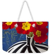 Red And Yellow Primrose Weekender Tote Bag