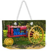 Red And Yellow Tractor Weekender Tote Bag