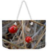 Red Asparagus Berries Weekender Tote Bag