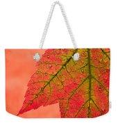 Red Autumn Weekender Tote Bag by Carol Leigh