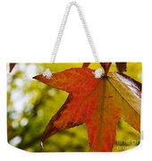 Red Autumn Leaf Weekender Tote Bag