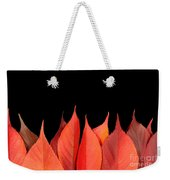 Red Autumn Leaves On Edge Weekender Tote Bag