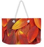 Red Autumn Leaves Pile Weekender Tote Bag