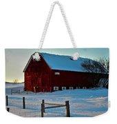 Red Barn In Winter ... Weekender Tote Bag