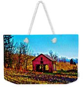 Red Barn On A Hillside Weekender Tote Bag