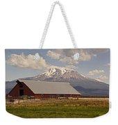 Red Barn Under Mount Shasta Weekender Tote Bag