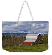 Red Barn With Tin Roof Weekender Tote Bag