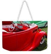 Red Beautiful Car Weekender Tote Bag