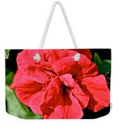 Red Begonia Weekender Tote Bag