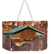 Red-bellied Woodpecker At Lunch Weekender Tote Bag
