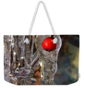 Red Berry In Icicle Weekender Tote Bag