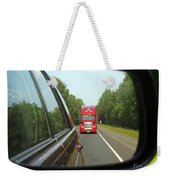 Red Big Truck Behind Weekender Tote Bag