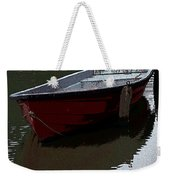 Red Boat In A Canal In The Netherlands Weekender Tote Bag