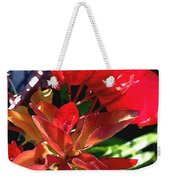 Red Bougainvillea Weekender Tote Bag