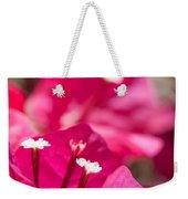 red Bougainvillea Weekender Tote Bag