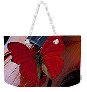 Red Butterfly On Violin Weekender Tote Bag