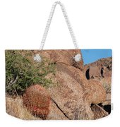Red Cactus Rock Weekender Tote Bag