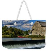 Red Canoes At The Boathouse Weekender Tote Bag by Paul Ward