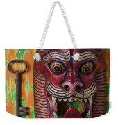 Red Cat Mask Weekender Tote Bag