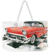 Red Chevrolet 1957 Weekender Tote Bag