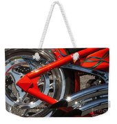 Red Chopper Detail Weekender Tote Bag
