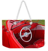 Red Classic Car Weekender Tote Bag
