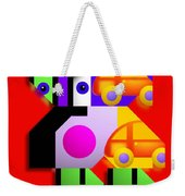 Red Collage Weekender Tote Bag