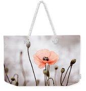 Red Corn Poppy Flowers 01 Weekender Tote Bag by Nailia Schwarz