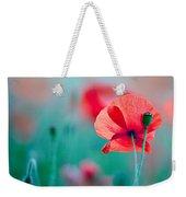 Red Corn Poppy Flowers 04 Weekender Tote Bag