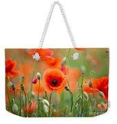 Red Corn Poppy Flowers 05 Weekender Tote Bag