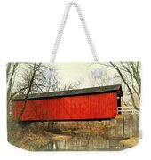 Red Covered Bridge Weekender Tote Bag