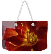 Red Day Lily Weekender Tote Bag