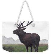 Red Deer Painting Weekender Tote Bag