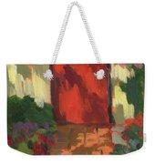 Red Door - Shadow And Light Weekender Tote Bag