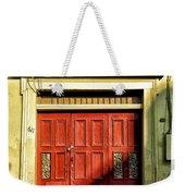 Red Door In Half Shadow Weekender Tote Bag