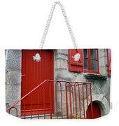 Red Door In Laroche Bernard Weekender Tote Bag