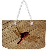 Red Dragon Fly Weekender Tote Bag by LeeAnn McLaneGoetz McLaneGoetzStudioLLCcom