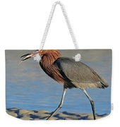 Red Egret With Fish Weekender Tote Bag
