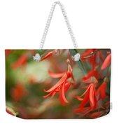 Red Exotic Weekender Tote Bag