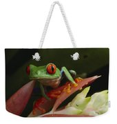 Red-eyed Tree Frog In Costa Rica Weekender Tote Bag