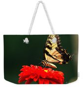 Red Flower And Butterfly Weekender Tote Bag