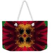 Red Flower Art Weekender Tote Bag
