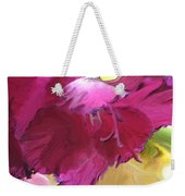 Red Flower In The Abstract Weekender Tote Bag