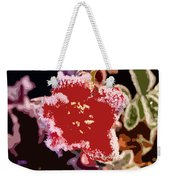 Red Flower With Frost Weekender Tote Bag