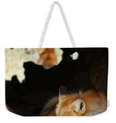 Red Fox Dreaming Weekender Tote Bag