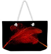 Red Ghost On Black Weekender Tote Bag