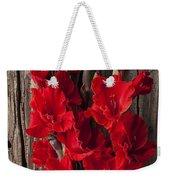 Red Gladiolus Weekender Tote Bag