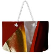 Red Gold And White Weekender Tote Bag